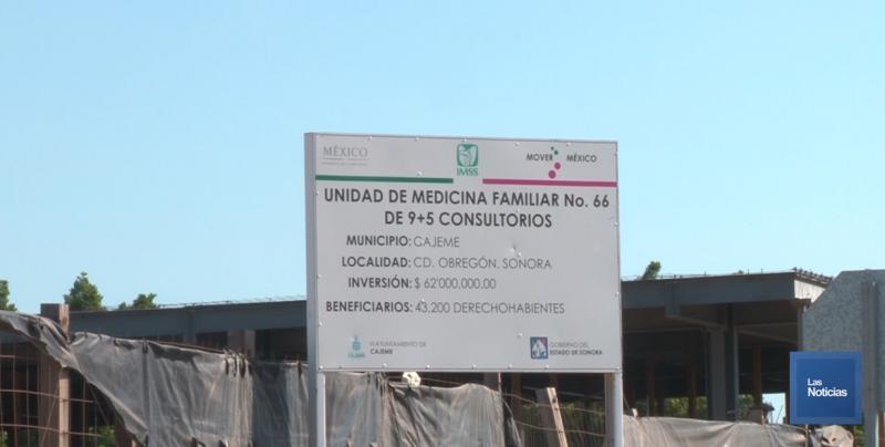 Reiniciarán la construcción la UMF 66 del IMSS en Ciudad Obregón