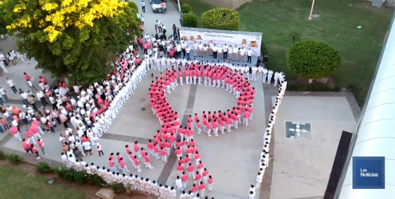 Realizaron Marcha Rosa en contra del Cáncer de Mama en Ciudad Obregón