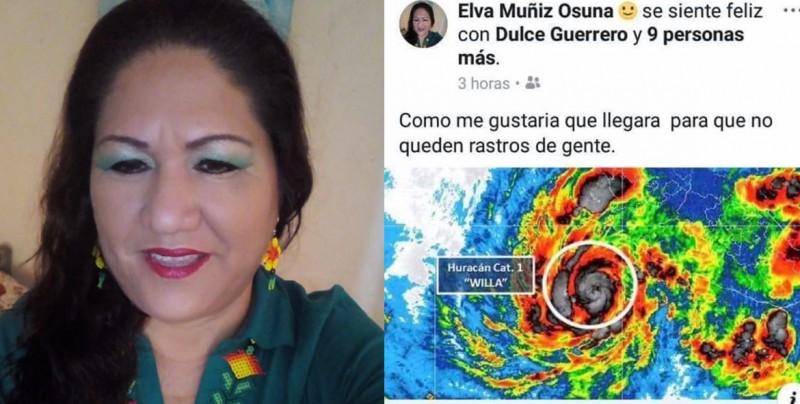 """""""Ojalá el huracán llegue para que no queden rastros de gente: Ex directora del DIF"""