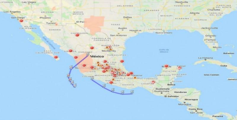 Google activa alertas y 'mapa de crisis' por huracán Willa