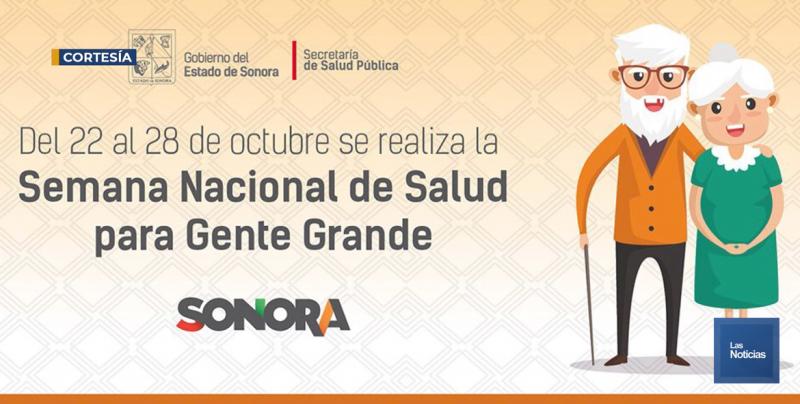 Secretaría de Salud de Sonora, arrancó Semana para Gente Grande 2018