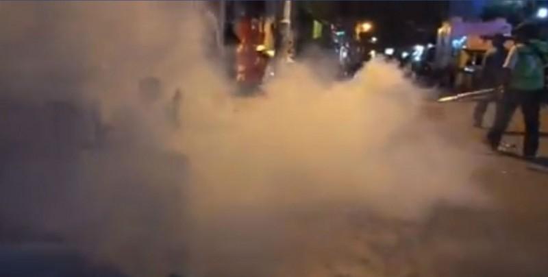 Fumigan a miembros de caravana migrante en Chiapas