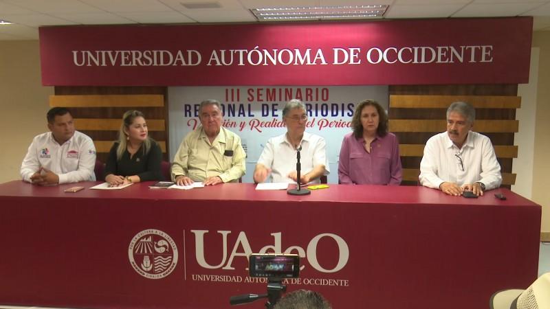 Da inicio el 3er Seminario regional de periodismo en Los Mochis