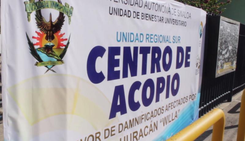 UAS habilita centro de acopio en Mazatlán