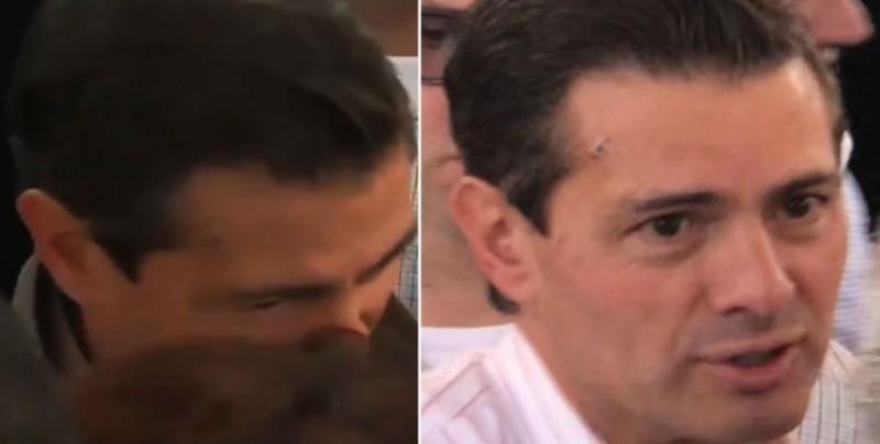 Peña Nieto se presenta en evento público con pequeña herida en la frente