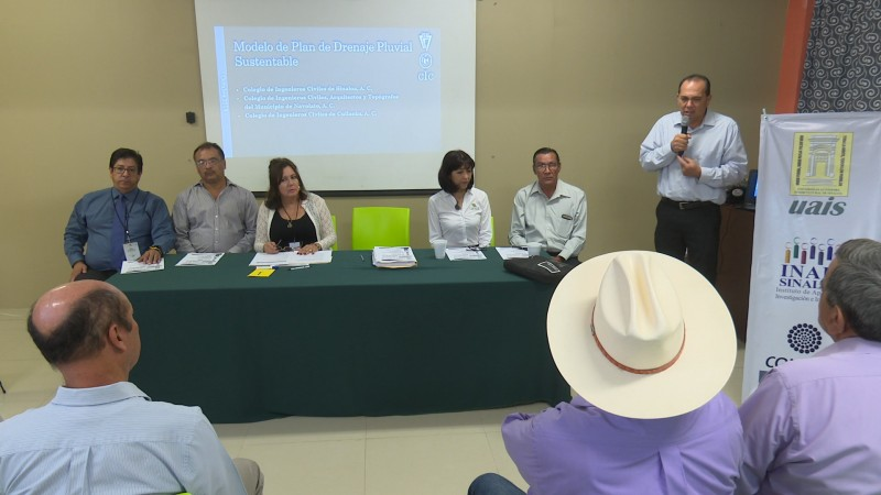Presentan plan maestros de drenaje pluvial