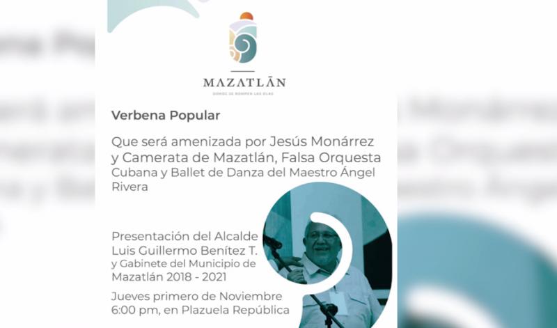Con verbena, Alcalde electo en Mazatlán dará a conocer a su gabinete