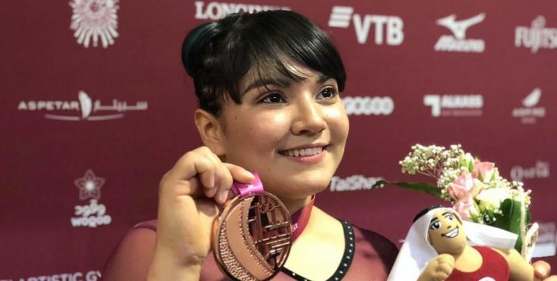 La mexicana Alexa Morena hace historia en Mundial de gimnasia