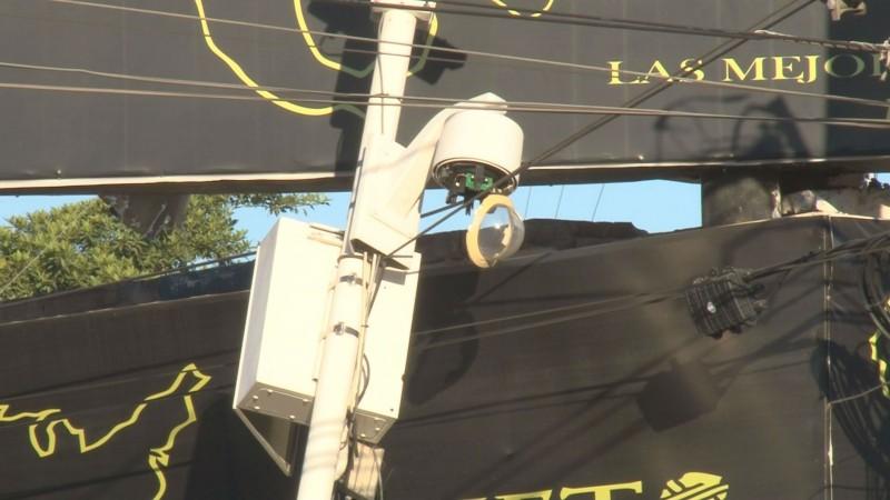 Una cámara de seguridad menos por accidente vial