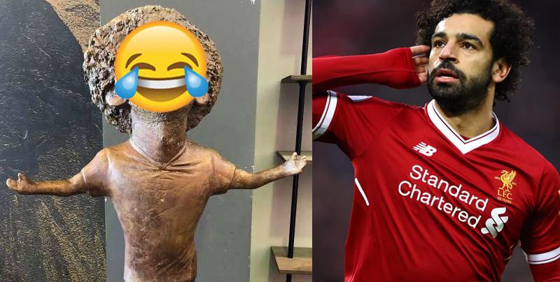 La estatua de Mohamed Salah se vuelve meme