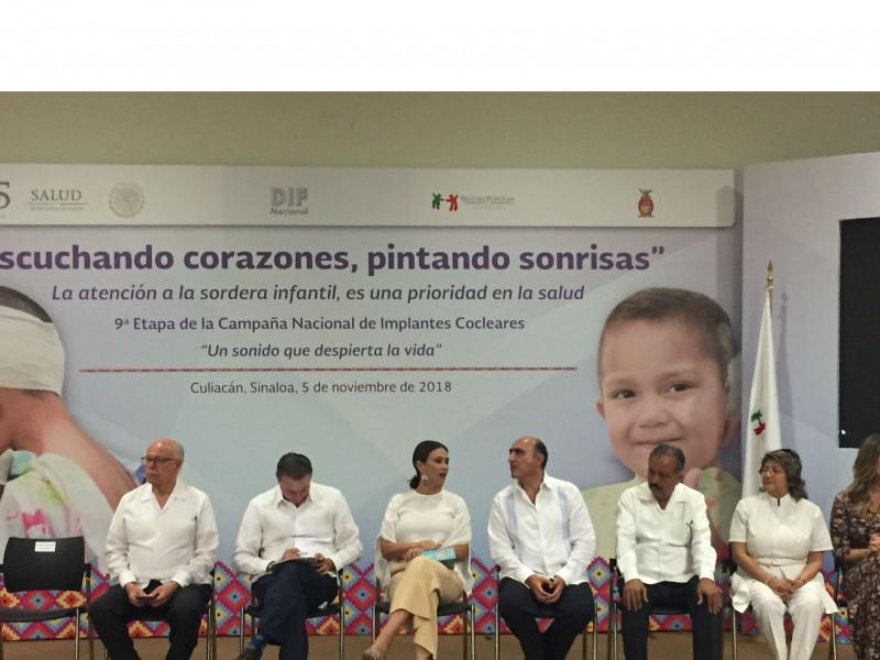 Reciben trasplante coclear 21 niños y niñas de Sinaloa