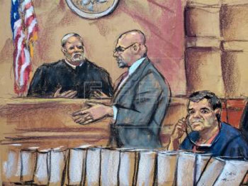 Finaliza primer día del juicio contra el Chapo