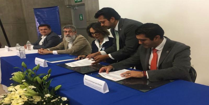 Instituciones educativas, firman convenio de colaboración