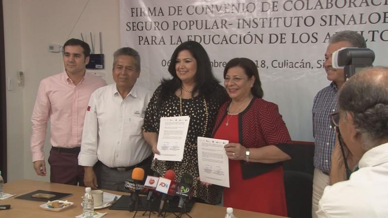 Firman convenio de colaboración ISEA y Seguro Popular
