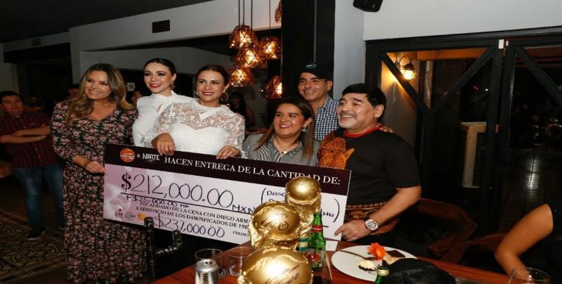 Un total de 237 mil pesos entrega Dorados y Sinaloa a DIF-Sinaloa para damnificados