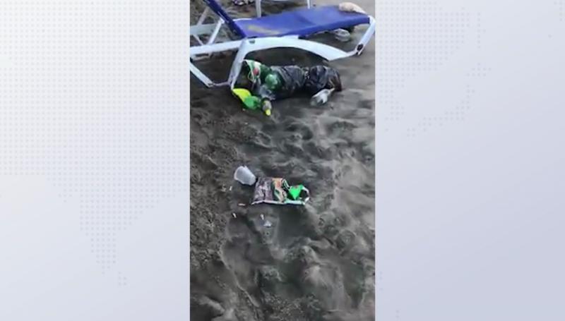Estudiantes contaminan playas con basura