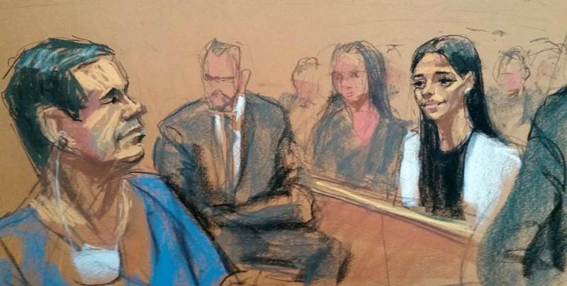 El juez rechaza petición de El Chapo para abrazar a su mujer antes de juicio