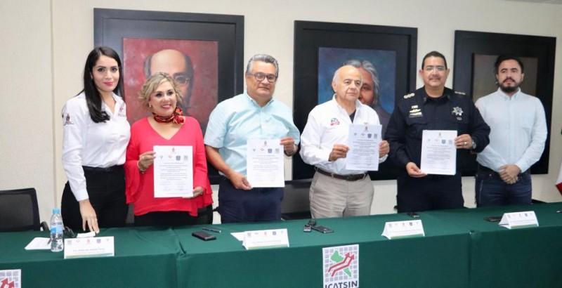 Firman convenio de colaboración el SESESP y el ICATSIN
