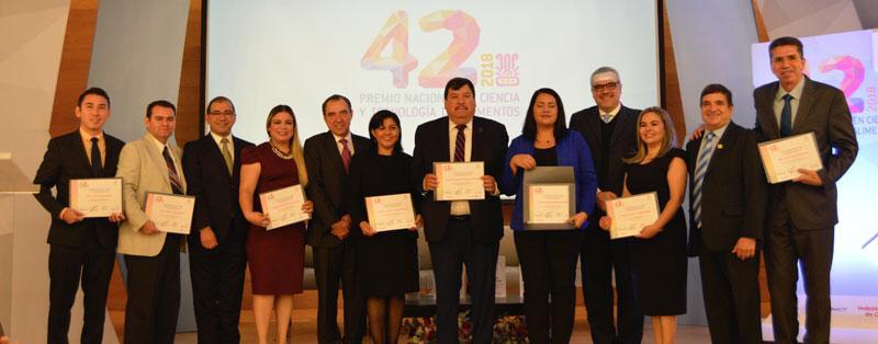 Recibe UAS Premio Nacional en Ciencia y Tecnología de Alimentos 2018