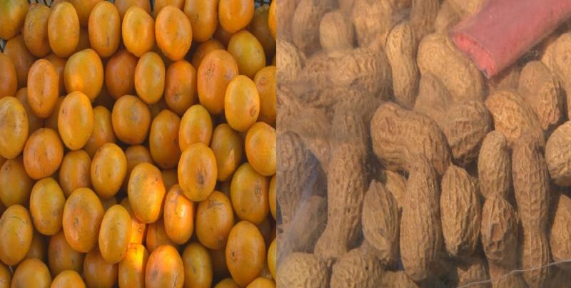 Cacahuates y mandarinas protagonistas en las posadas
