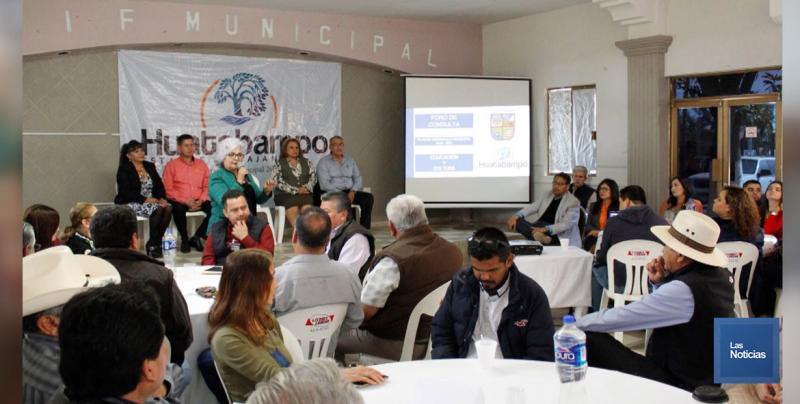 En Huatabampo, presentan foro de Educación y Cultura