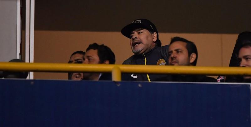 Así fue la reacción de Maradona tras la derrota de Dorados