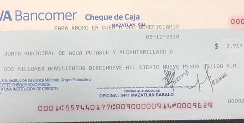 ¡Ya hay cheque! Directiva de Venados paga al Ayuntamiento