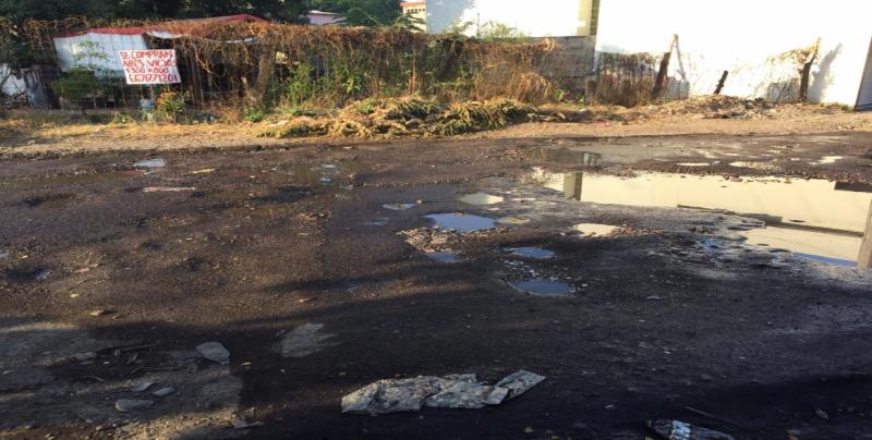 Continua en malas condiciones la calle Guadalupe Victoria