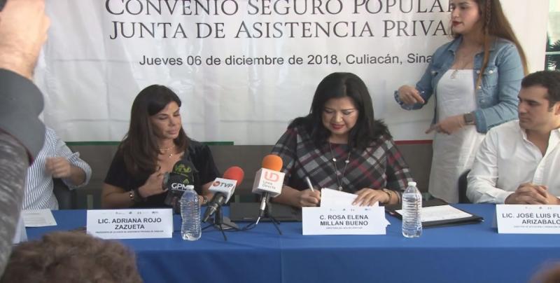 Signan convenio Seguro Popular y la Junta de Asistencia Privada