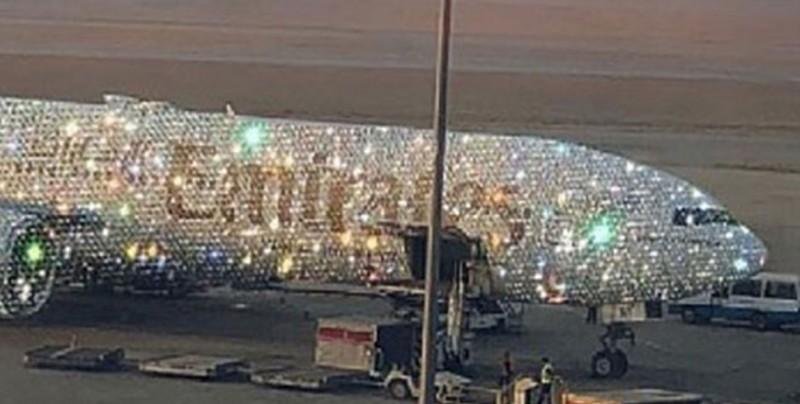 """Artista tapiza de diamantes el avión """"Bling 777"""""""