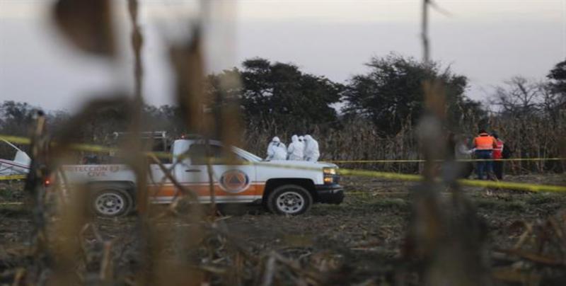 Descartan presencia de explosivos en helicóptero accidentado en Puebla