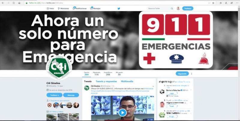 C4i Informará de forma oportuna vía Twitter situación vial de Culiacán