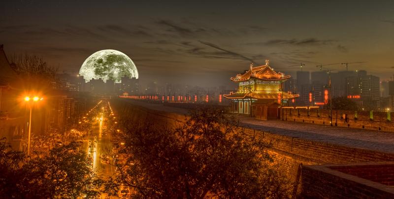 China lanzará una luna artificial para iluminar el cielo