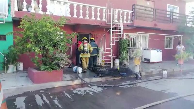 Se incendia vivienda en la Francisco Solís