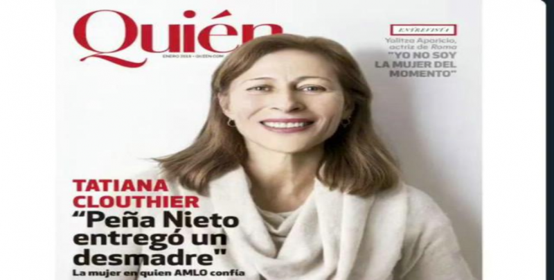 Tatiana Clouthier en la portada de la revista Quién