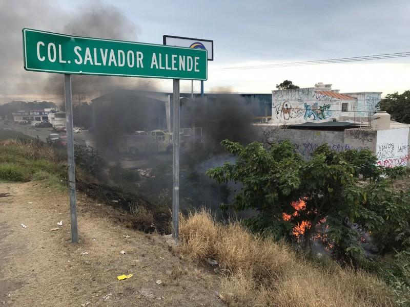 Incendio en la colonia Salvador Allende