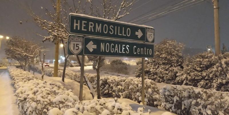 Las mejores imágenes de la nevada en Nogales, Sonora