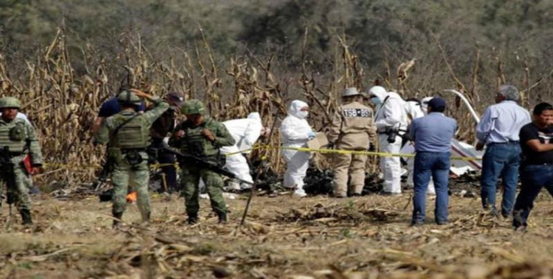 Avanza peritaje de Canadá, EU y UE por desplome de helicóptero en Puebla