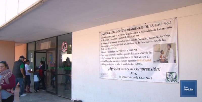 El IMSS exhortó a sus derechohabientes a no llegar en horas de madrugada a la UMF Uno