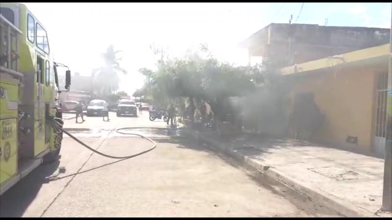 Incendio en la Morelos