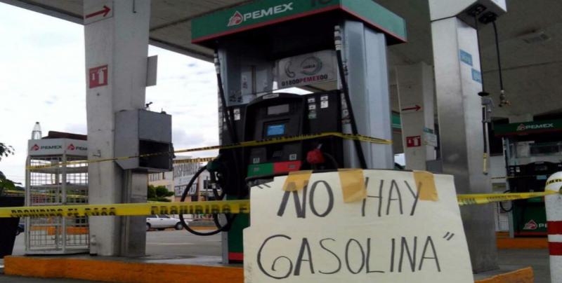 Desabasto de combustible lleva dos semanas en 6 estados