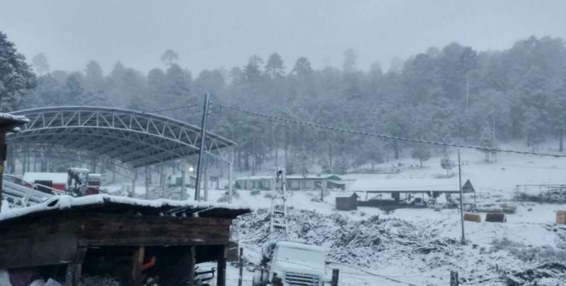 Se registran nevadas en 4 poblados de Guanaceví, Durango