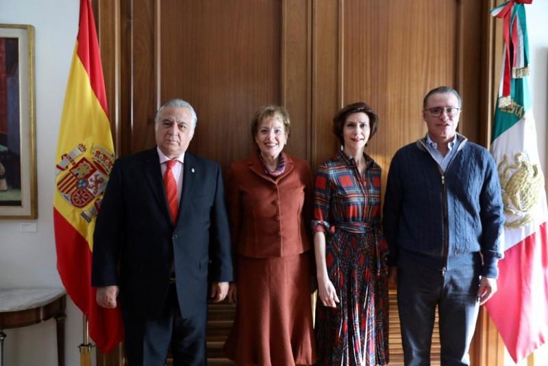 En España se reúne el Gobernador Quirino Ordaz con Titulares del ramo en ese país europeo
