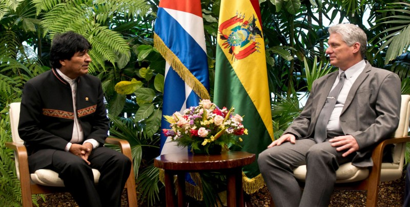 Evo Morales se reúne en La Habana con Díaz-Canel en escala hacia EE.UU.