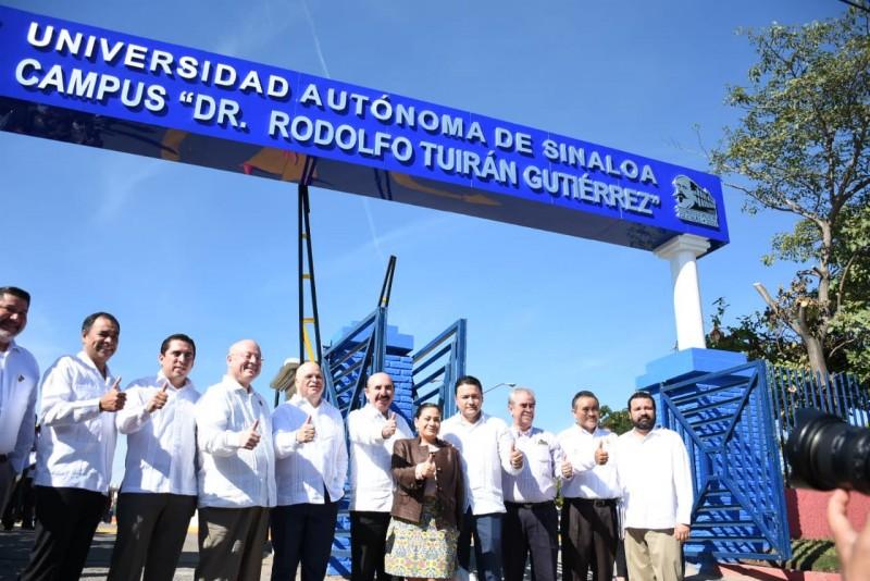 """Se devela placa del Campus """"Dr Rodolfo Tuirán"""" en la UAS"""