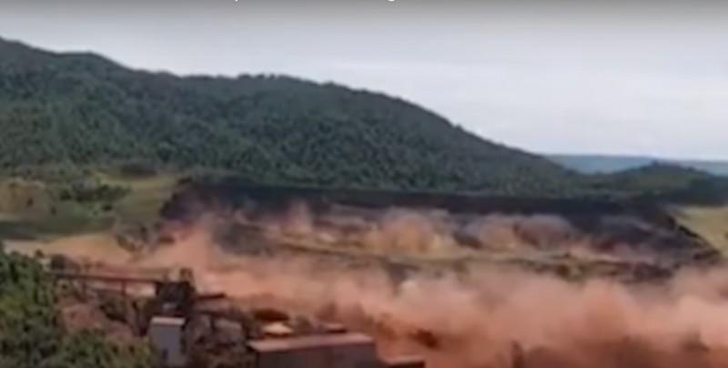 #Video Impactante momento en que colapsó el dique en Brasil y dejó más de cien muertos