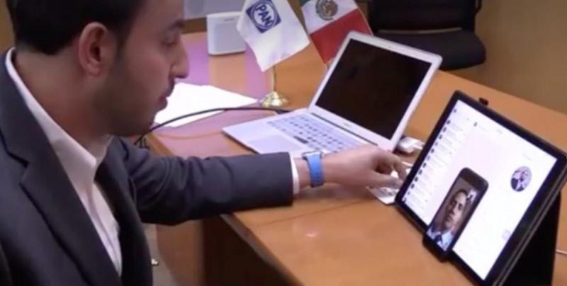 Líder del PAN mexicano expresa su apoyo a Guaidó en una videollamada