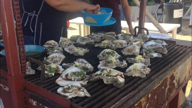 Cautiva paladares la Expo Feria del Ostión en Celestino Gazca
