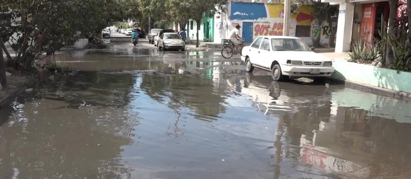 Vecinos esperan respuesta por fuga de agua en Colonia Juárez