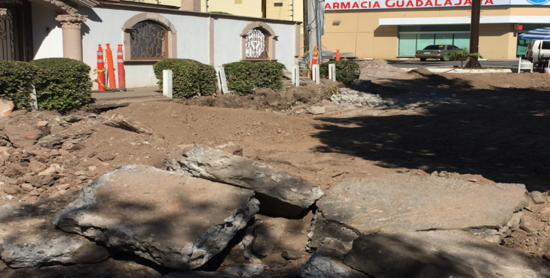 Cerrado por obras un tramo del Anaya